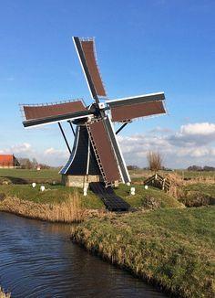 Polder mill Molen Ybema's Molen, Workum, The Netherlands