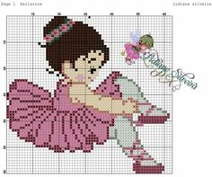 Ballerina cross stitch pattern ✔