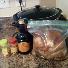 This is how I cook my chicken for the week. I marinate the chicken with balsamic vinegar, mrs dash southwest chipotle and fiesta lime. I put it in the fridge for a couple hours, then in the crockpot. Cook on low for 6-8 hours or on high for 4 hours.