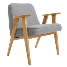 366 rocking chair tweed is a series of furniture based on the legendary model 366 easy chair, designed by Józef Chierowski in Design Museum London, Design Bleu, Outdoor Chairs, Outdoor Furniture, Grey Armchair, World Of Interiors, Gray Interior, Retro Furniture, Cafe Furniture