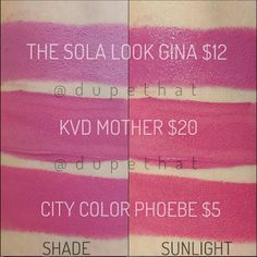 "KVD and City color are CFO for Covergirl ""The Sola Look Gina"""