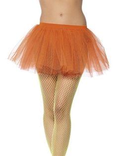 Tutù arancione, gonna in tulle color arancio. Tg.unica. Per Costumi e Travestimenti, festa a tema e gadget per festa a tema Ballerine. Disponibile da C&C Creations Store