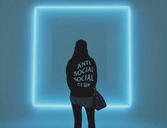 Anti Social Social Club black hoodie paired with demiegod butterfly cap and Kendel & Kylie leggings.
