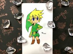 I'm redrawing Link from The Legend Of Zelda - Phantom Hourglass! Alcohol Markers, Mechanical Pencils, Faber Castell, Hourglass, Legend Of Zelda, Fanart, Honey, Let It Be, My Love