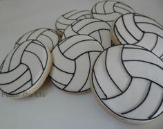 1 Dozen Sports Ball Cookies by FlourDeLisShop on Etsy