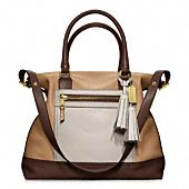 LEGACY COLORBLOCK LEATHER RORY SATCHEL - I think I like this ... don't know about the obnoxious tassels though.