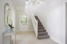Bright and Light, with Stripe Stair Carpet