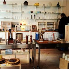 Light and open boutique with a collection of simple, beautiful, and functional objects