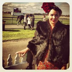 Our Lifeline Warrnambool Shop Manager attended the Warrnambool May Racing Carnival Ladies Day Luncheon 2013  #ladiesday #ladiesluncheon #warrnamboolraces #warrnamboolmayraces #warrnamboolcupcarnival #upcycledmillinery #racefashion #racefashions #racingfashionaustralia #racingvictoria #warrnambool #countryracing #vintage #victoria #opshop #recycle #fur #millinery