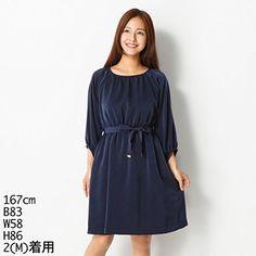 Amazon.co.jp: クイーンズコート(QUEENS COURT) ワンピース(シャーリングワンピース): 服&ファッション小物