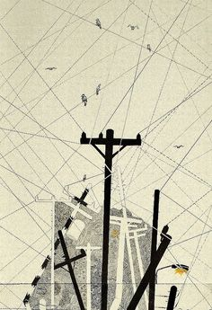 Power lines--Telephone poles--The Illustration by Simone Asia, via Behance