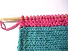 Knitting Tutorial - How to pick up stitches and knit. So important to know! Very good instructions and photos.from knitty.com