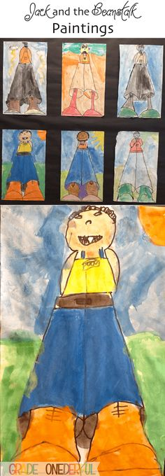 Jack and the Beanstalk Paintings and Plants (Grade ONEderful) Traditional Tales, Traditional Stories, Fairy Tale Activities, Art Activities, Eyfs Jack And The Beanstalk, Fairy Tales Unit, Van Gogh, Fairy Tale Theme, Directed Drawing