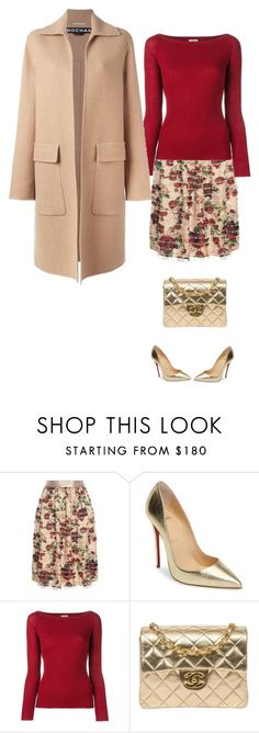 """""""Untitled #1654"""" by polylana on Polyvore featuring Mother of Pearl, Christian Louboutin, Nude, Chanel and Rochas"""