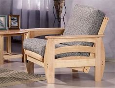 Corona Chair Futon Frame - Natural Finish. Corona Chair Futon Frame The Corona, one of the jewels in the crown of the Standard Collection with its pleasing shape and its rising curves. A contemporary look and a good value. Our Standard Collection wood futon frames are.. . See More Futon Frames at http://www.ourgreatshop.com/Futon-Frames-C1037.aspx