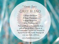 Grief blend - geranium, marjoram, bergamot & frankincense