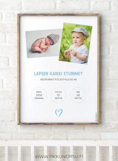 Personoitava syntymätaulu kahdella kuvalla