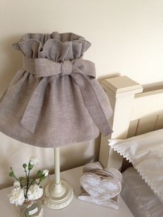 Hand Made by Betsy Blair Home    A gorgeous vintage style lampshade made with a simple, stylish linen-look fabric in a beautiful taupe shade.