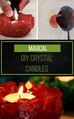Make Your Own Crystal Candles. Easy To Make And Looks Like Fun. Prices For Items Required Are Very High. Would Be Very Cheap To Purchase Them In North America. The Average Person Would Most Likely Have All These Items On Hand, With The Exception Of The Alum Powder. Very Cool Though.