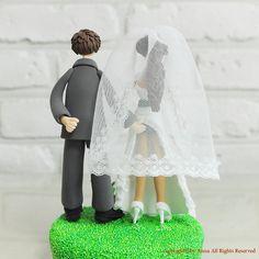 Topper de gâteau de mariage personnalisé couple beau et ludique, topper gâteau personnalisé, décoration et cadeau parfait pour couple comme mariage,