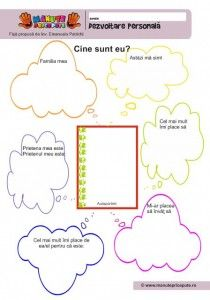 002 - Fise de lucru  - Dezvoltare personala Kindergarten Worksheets, Preschool Activities, Visual Perception Activities, Little Einsteins, Fall Art Projects, School Frame, School Lessons, After School, Me On A Map