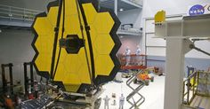 NASA has completed the $8.7 billion James Webb space telescope - Hubble's successor is ready for testing ahead of the October 2018 launch - It's equipped with a 21-foot gold-coated mirror array that can collect seven times more light than Hubble and scan the infrared spectrum to see through dust.