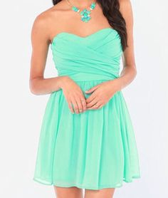 Gorgeous simple teal dress for damas