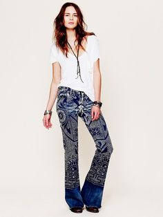 Free People Discharge Bali Flare, $0.00
