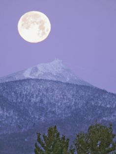 The full moon over Camel's Hump, VT.