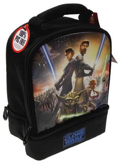 Star Wars Clone Wars Thermos Insulated Lunch Bag Anakin Ahsoka Tano Obi Wan  Yoda  StarWars 0d2c2c1665