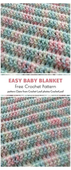 Easy Baby Blankets Free Patterns #easy #crochet #baby #blanket #for #beginners Hello, crocheting newbies! If you are in urgent need of a handmade blankie for a special little someone, these patterns for Easy-Peasy Baby Blankets will save the day. You don't need much experience, just some patience and time! Coral Reef Blanket Free Crochet Pattern Remarkable stitching technique and genius combination Crochet Baby Blanket Free Pattern, Easy Crochet Blanket, Crochet Blanket Patterns, Free Crochet, Crocheted Baby Blankets, Handmade Baby Blankets, Soft Baby Blankets, Free Knitting, Häkelanleitung Baby