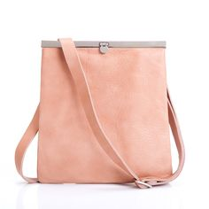 Leather Cross Body Bag Powder Small Leather Bag by MatkaShop, $92.00