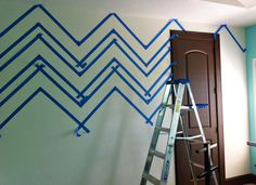 Painting a chevron room.... nicole this one is for you!