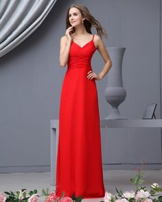 Sweetheart Floor Length Chiffon Empire Bridesmaid Dress   - Click image twice for more info - See a larger selection of Party dress at  http://azdresses.com/category/dress-categories/dresses-by-occassion/party-dress/ - woman, womans dress, womans fashion, dress, gift ideas, semi formal dress   « AZdresses.com