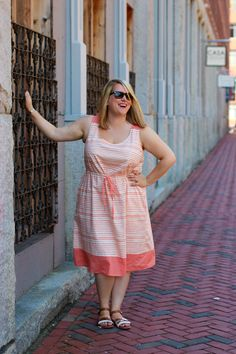 Take a peachy risk: another Southport dress