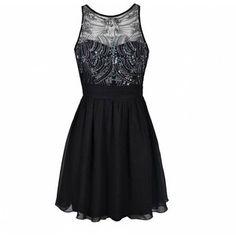 Ally Fashion Embellished bodice prom dress