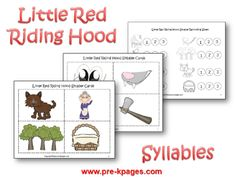 Little Red Riding Hood Printable Syllable Activity via www.pre-kpages.com