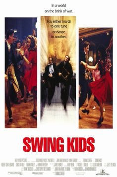 Swing Kids was a poignant film. Three teenage boys involved in an underground Swing movement are faced with Nazism and decide where their loyalties lie when it comes to being German. Or being human. It's a classic 90's film that reminds me of The Dead Poet's Society. If there's anything to look out in the film, it's the radical swing dance and swing music. :)