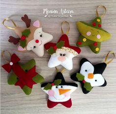 Inspirasi dekorasi natal By: - Christmas Projects, Felt Crafts, Holiday Crafts, Felt Christmas Decorations, Felt Christmas Ornaments, Christmas Sewing, Christmas Crafts, 242, Ideas