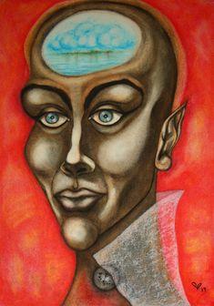 Male Fairy, Original Paintings, Original Art, Pastel Portraits, Abstract Portrait, Painting Process, Pastel Colors, Buy Art, Paper Art