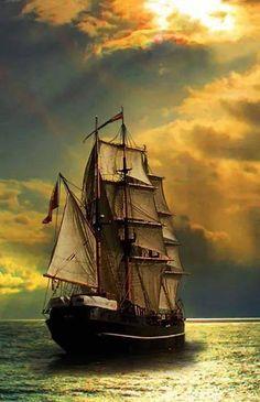 Strong winds make good sailing Ship Paintings, Seascape Paintings, Sailboat Art, Sailboats, Old Sailing Ships, Sailing Boat, Ship Drawing, Tug Boats, Ship Art