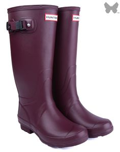 New Hunter Ladies' Huntress Wellington Boots - Burgundy | Country Attire but not this colour!!! And not really for Christmas...!