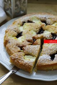 Soft tart in 10 minutes Italian Desserts, Sweet Desserts, Italian Recipes, Sweet Recipes, Cake Recipes, Dessert Recipes, Blog Patisserie, Bolo Fit, Torte Cake