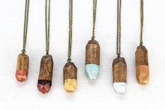 Voz Deco Wood Crystals by vozcollective on Etsy