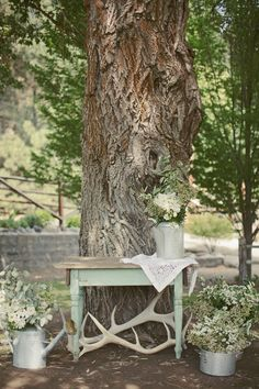 Rustic wedding – Kristen Mikael – © Ben Blood - So Lovely moments wedding Wedding Entry Table, Reception Table, Rustic Wedding, Enchanted Forest Theme, Wedding Rehearsal, Rehearsal Dinners, Color Of The Day, Pistachio Green, Green Party