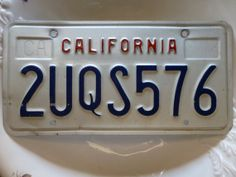 California License Plate  Good Condition  by ChicAvantGarde, $24.00