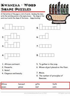 13 Best Kwanzaa Worksheets and Homeschooling/Educatioon Books images ...