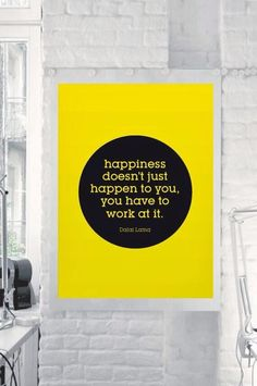 Happiness is what we make it.