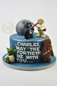 Fun Star Wars cake for a 40th birthday by Juniper Cakery