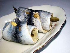 Rollmops; fish serving at Wigilia, important as non-red-meat offering